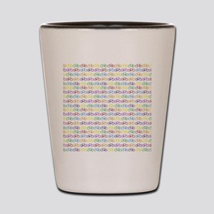 Colorful Bicycles Shot Glass