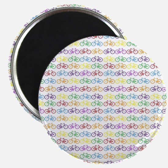 Colorful Bicycles Magnet