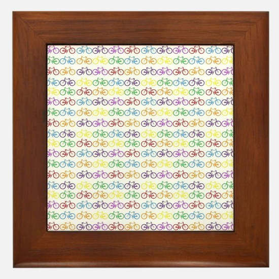 Colorful Bicycles Framed Tile