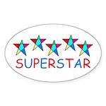 SUPERSTAR Oval Sticker