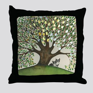 Gold Boise Boston Terriers Throw Pillow