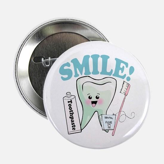 """Smile Dentist Dental Hygiene 2.25"""" Button"""