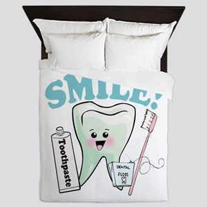 Smile Dentist Dental Hygiene Queen Duvet
