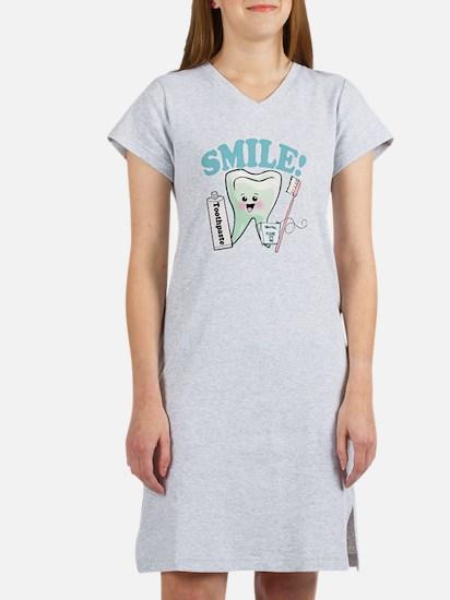 Smile Dentist Dental Hygiene Women's Nightshirt