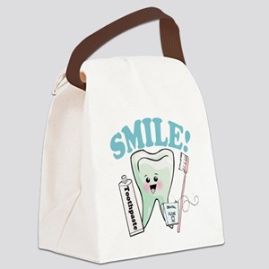 Smile Dentist Dental Hygiene Canvas Lunch Bag