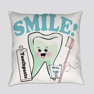 Smile Dentist Dental Hygiene Everyday Pillow