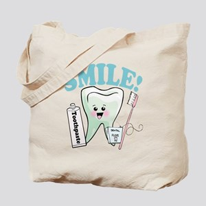 Smile Dentist Dental Hygiene Tote Bag