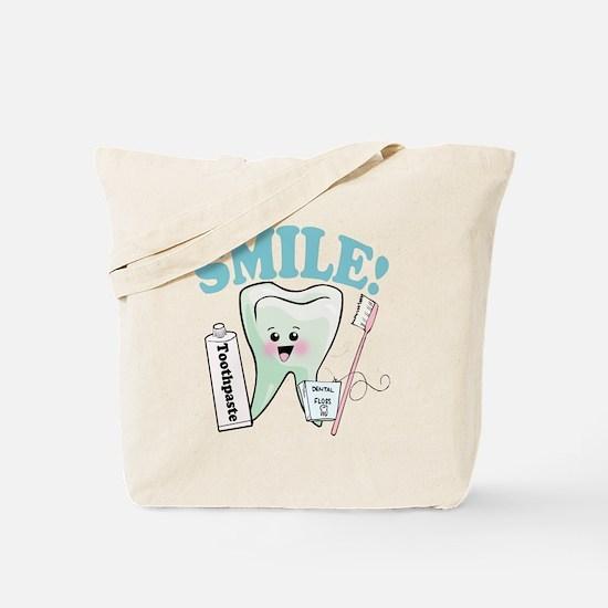 Smile Dentist Dental Hygiene Tote Bag