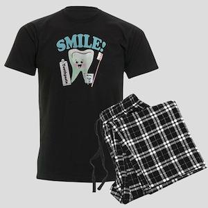 Smile Dentist Dental Hygiene Men's Dark Pajamas