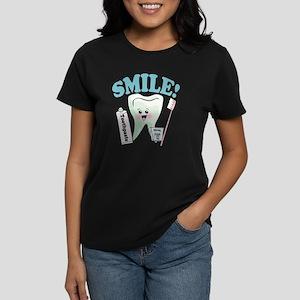 Smile Dentist Dental Hygiene Women's Dark T-Shirt