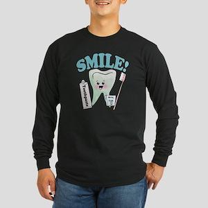 Smile Dentist Dental Hygi Long Sleeve Dark T-Shirt