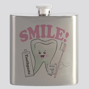 Smile Dentist Dental Hygiene Flask