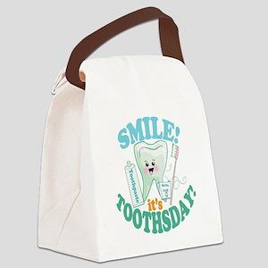 Smile Dentist Dental Hygiene Canvas Lunch Bag