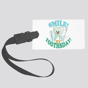 Smile Dentist Dental Hygiene Large Luggage Tag