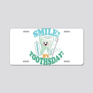 Smile Dentist Dental Hygien Aluminum License Plate