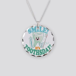 Smile Dentist Dental Hygiene Necklace Circle Charm