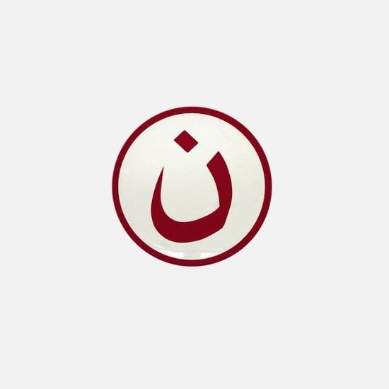 Red Nazarene Symbol Mini Button