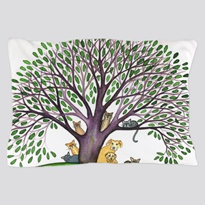 Laurel Stray Cats and Dog Pillow Case