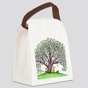 Laurel Stray Cats and Dog Canvas Lunch Bag