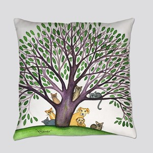 Laurel Stray Cats and Dog Everyday Pillow
