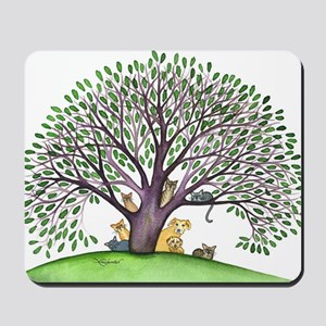 Laurel Stray Cats and Dog Mousepad