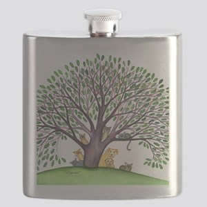 Laurel Stray Cats and Dog Flask