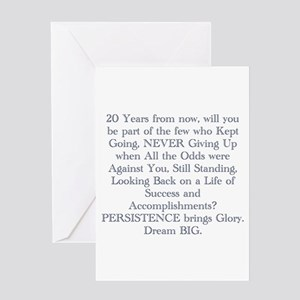 PERSISTENCE Greeting Cards