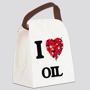 I Love Oil Canvas Lunch Bag