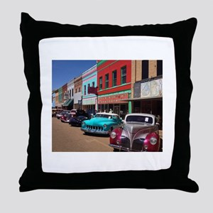 Antique Cars Throw Pillow