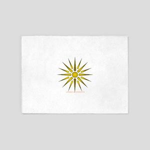 Sun Symbol 5'x7'Area Rug