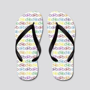Colorful Bicycles Flip Flops
