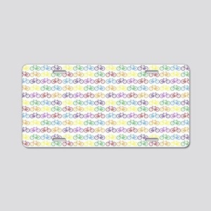 Colorful Bicycles Aluminum License Plate