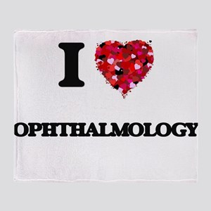 I Love Ophthalmology Throw Blanket