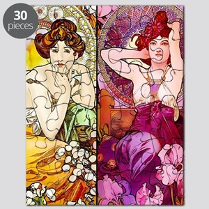 Mucha Gems Topaz & Ruby Ladies Puzzle
