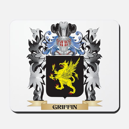 Griffin Coat of Arms - Family Crest Mousepad