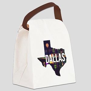 Dallas Texas Silhouette Canvas Lunch Bag
