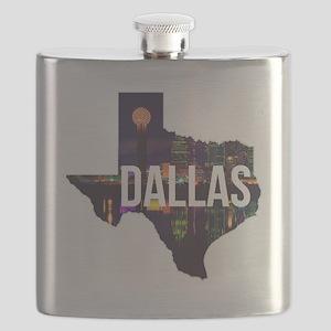 Dallas Texas Silhouette Flask