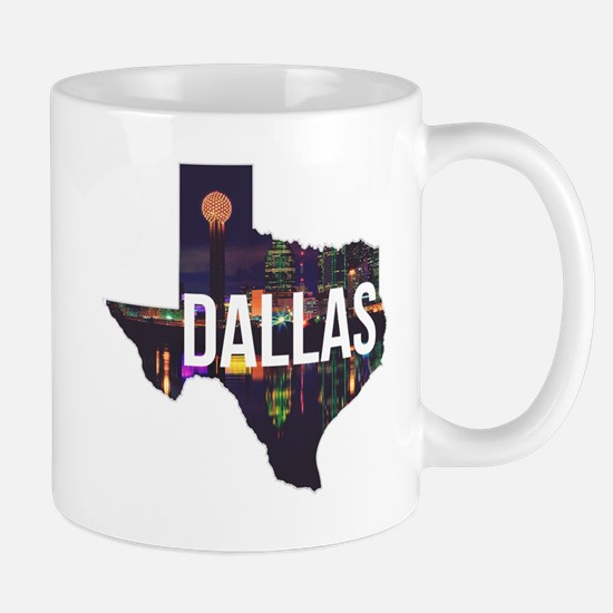 Dallas Texas Silhouette Mug