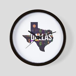 Dallas Texas Silhouette Wall Clock
