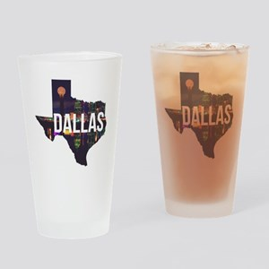 Dallas Texas Silhouette Drinking Glass