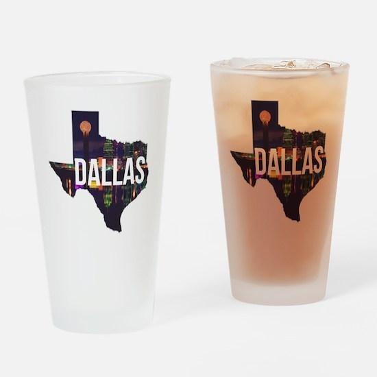 Dallas Texas Silhouette Drinking Glass