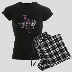 Dallas Texas Silhouette Women's Dark Pajamas