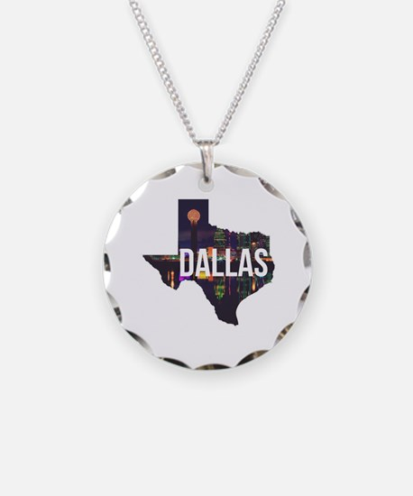 Dallas Texas Silhouette Necklace