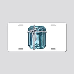 Blue-Brooch Aluminum License Plate