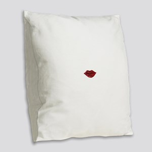 SPARKLING_LIPS Burlap Throw Pillow