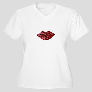 SPARKLING_LIPS Plus Size T-Shirt