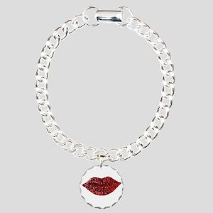 SPARKLING_LIPS Charm Bracelet, One Charm