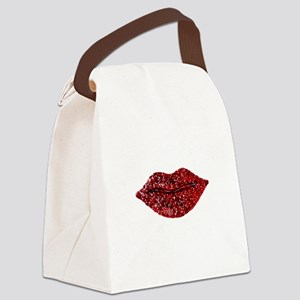 SPARKLING_LIPS Canvas Lunch Bag