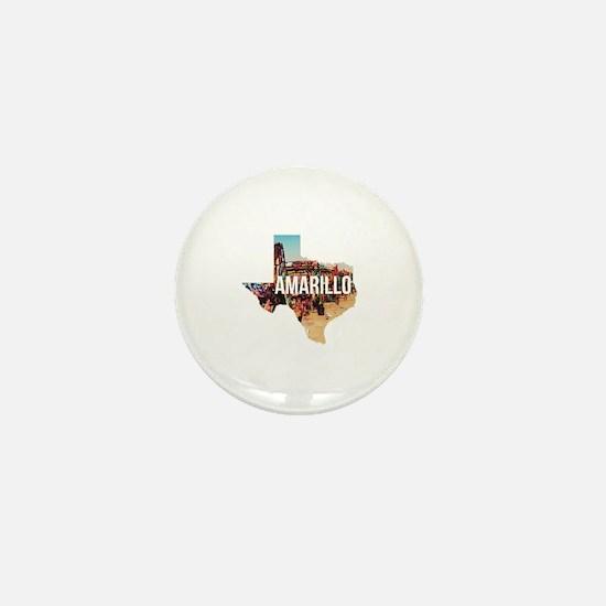 Amarillo Cadillac Ranch Mini Button