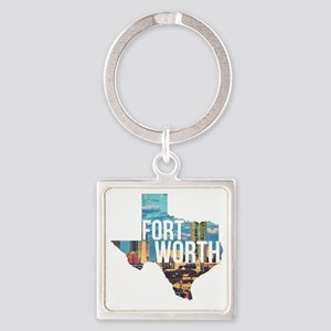 Fort Worth, Texas  Square Keychain